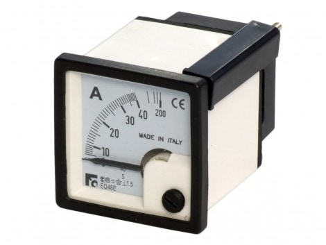 AMMETER ALTERNATE CURRENT MEASURE (CONNECTION ON T