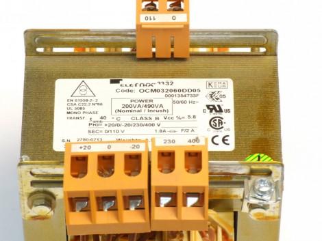 1PH.TRANSFORMER 200 VA +-20V230/400 S=110 CE/CSA-U