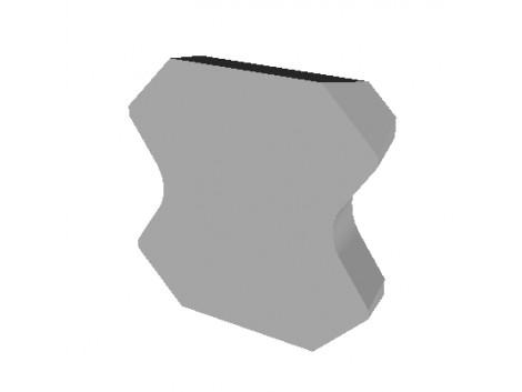 HW-SCRAPER KNIFE 12.7X12.7X3.18 R=2