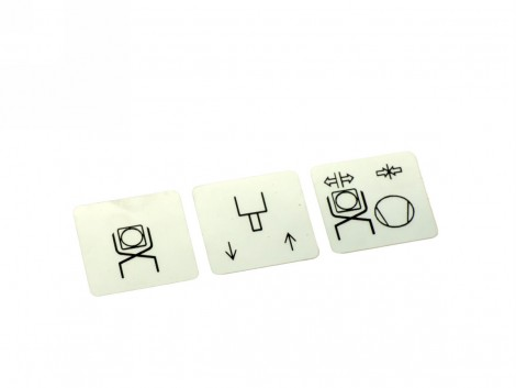 ADHESIVE LABELS FOR MF MACHINE