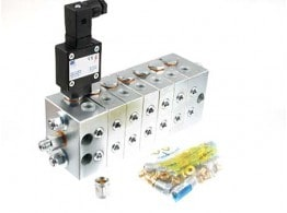 GREASE DISTRIBUTOR UNIT 7 ELEMENTS W. MICROSWITCH